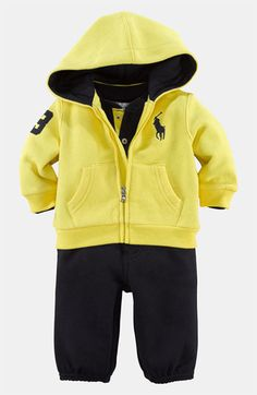 Ralph Lauren Bodysuit, Hoodie & Pants (Infant) available at #Nordstrom