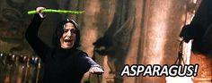 Go go Severus! Asparagus power!!  (Expelliarmus) :D