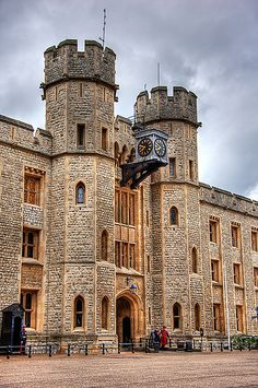 Her Majesty's Royal Palace and Fortress, more commonly known as the Tower of London, is a historic castle on the north bank of the River Thames in central London.