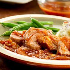Orange Pork Tenderloins with Caramelized Onions Allrecipes.com