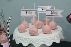 Ready To Pop Baby Shower Pink Cake POPS with Flag