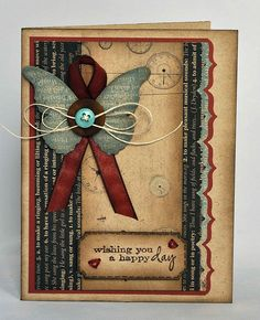 Wishing You a Happy Day by Deborah (aka Gigi), via Flickr memory box group