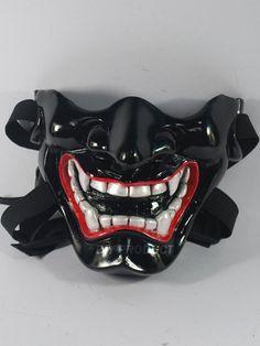 Japanese Noh Mask Half-Face Hannya Demon  Get your own mask at www.tokyomask.com