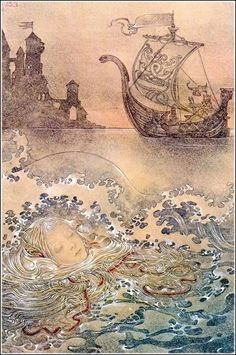 Sulamith Wulfing ~ Floating ~ The Little Mermaid - fairy tale - illustration Art And Illustration, Mermaid Illustration, Animal Illustrations, Illustrations Posters, Fantasy Kunst, Fantasy Art, Fairytale Art, Merfolk, Mermaid Art