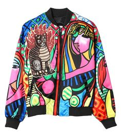 Abstract Attraction Women's Bomber Jacket