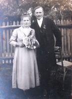 Marie Švidrnochová a Theodor Klásek - svatba