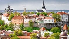 City of Tallinn, in the Republic of Estonia. Located along the Baltic Sea in Northern Europe, Toompea Hill has a number of historic cathedrals and churches. Riga, The Places Youll Go, Places To Go, Baltic Cruise, Estonia Travel, Turu, City Break, Best Cities, European Travel