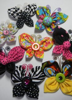 Fabric butterflies ready to fly...  Designed and Created by Margarita