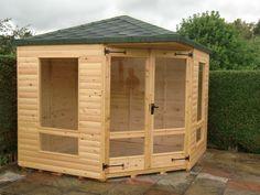 Classic corner summerhouse 8ft x 8ft