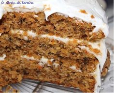 Pastel de zanahoria y nueces Healthy Cake, Pain, Carrots, Fondant Cakes, Cupcake Cakes, Sweet Recipes, Cake Recipes, Bien Tasty, Dried Apples