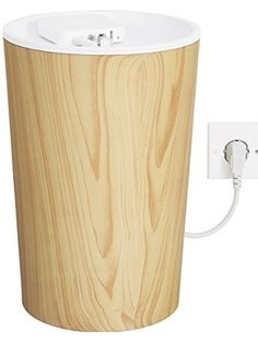 Bluelounge CableBin - Light Wood - Cable Management - Flame Retardant ❤ Bluelounge