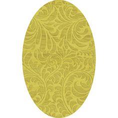 Dalyn Rug Co. Bella Yellow Area Rug Rug Size: Oval 3' x 5'