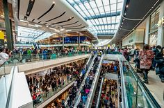 Shoppers at the modern Westfield Stratford City mall in #London http://www.nyhabitat.com/blog/2013/03/11/top-5-shopping-spots-london/