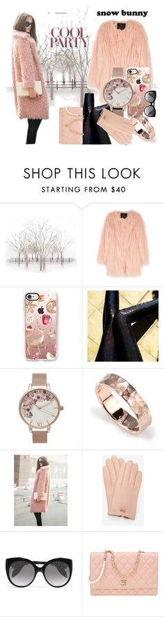 """""""Pinky Bunny"""" by iris234 on Polyvore featuring Home Decorators Collection, Unreal Fur, Casetify, Olivia Burton, WithChic, Ted Baker, Alexander McQueen and Chanel"""