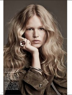 Anna Ewers for Vogue Germany March 2015 - Jason Wu