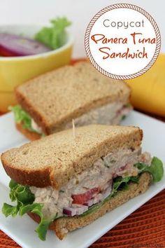 Copycat Panera Tuna Sandwich recipe - make your own tuna salad sandwiches, perfect for picnics. Saves money too.