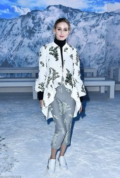 Always on form: US socialite Olivia Palermo, 30, cut a very stylish figure when she attend...