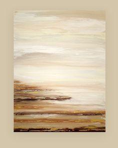 Dit is een originele een van een soort abstract schilderij op doek door acryl kunstenaar Ora Birenbaum.  Ik gebruikte heel zacht gedempte tinten van cream, taupe, zand, camel, rijke chocolade bruin met vleugje metallic wit. Er zijn accenten van metallic pewter en goud ook.  Zeer getextureerde voor prachtige diepte.  Zijden zal worden afgewerkt en ondertekend, verzegeld en bedraad voor eenvoudige weergave zal aankomen.  Titel: In de verte AFMETINGEN: 30x40x1.5  MEDIUM: Acryl op Canvas  KAMER…