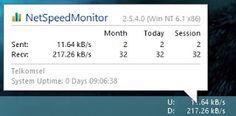 NetSpeed Monitor, Untuk Memonitor Koneksi Anda | Republic Of Note