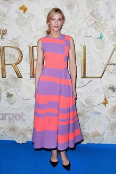 "Color! Cate Blanchett in Roksanda at the Australian premiere of Disney's ""Cinderella.""  Photo: Lisa Maree Williams/Getty Images"
