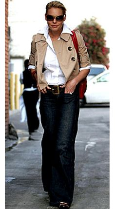 Combines 3 essentials: awesome pair of jeans+crisp white shirt+classic blazer/jacket.