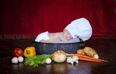 In honor of this little guy's daddy who is currently going to school to be a chef! Newborn