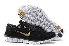 new concept ad5f0 f8cfa Nike Free 3.0 V2 Femme Anti Fur Chaussures Noire Or Nike Free Run 2, Nike