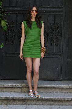 Emerald Green Dress/TunicSleeveless Handmade Emerald by Wonderhand