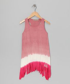 Take a look at this Pink  amp  Fuchsia Fringe Sidetail Tank by Gypsy Daisy   amp 0cddc600f