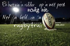 nie 'n ridder op 'n wit perd nie net 'n held in 'n rugbytrui Afrikaanse Quotes, Me Quotes, Songs, Rugby, South Africa, Sport, Google Search, Canvas, Tela