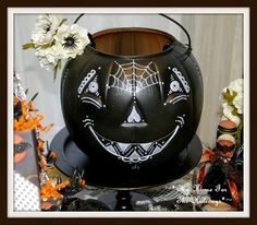 My Day of the Dead-inspired pumpkin pail