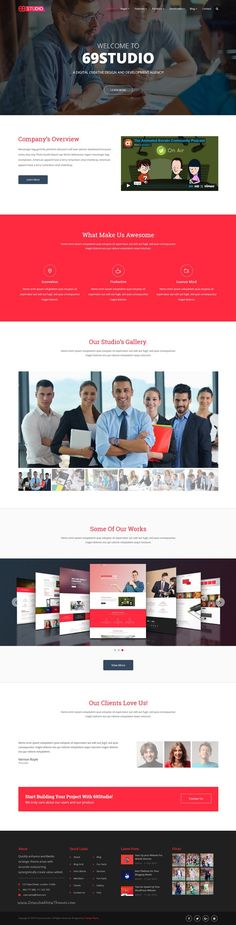 SixtyNineStudio is multi-functional responsive 10 in 1 #WordPress theme for corporate web solution for individual's or business #agencies #website. Download Now!