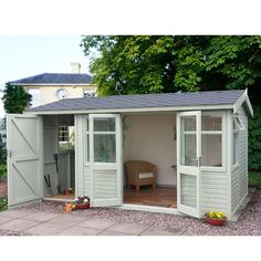 The Malvern Arley Pent is a garden office/summerhouse is available from GBC Group in a choice of timber finishes and a range of sizes.