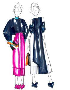 Delpozo Pre-Fall17 Illustration: Alessandra De Gregorio #delpozo #alessandradegregorio @delpozoofficial #Fashion #fashionillustration