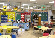 Clutter-Free Classroom: sports....Kids would love this set up!!! Great as spring rolls around too!