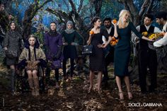 Dolce & Gabbana enlists supermodels Claudia Schiffer and Bianca Balti joined by Kate Bogucharskaia and Nastya Sten for the fairytale Fall Winter advertisement lensed by Domenico Dolce. Claudia Schiffer, Dolce & Gabbana, Fashion Advertising, Advertising Campaign, Cara Delevingne, Alexa Chung, Fall Winter 2014, Autumn Winter Fashion, Vogue