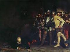 264 – (1541 - 27 de Junio) El Entierro. Inés Muñoz se encarga del entierro de su cuñado Francisco Pizarro y de su esposo Martín de Alcántara en la Iglesia Mayor, según algunas versiones es ayudada por Catalina Cueva, su fiel dama de compañía y  Juan Barbaran y su esposa.