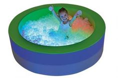 Convenient sized illuminated ball pool with mattress base & LED lighting. Sensory Rooms, Sensory Activities, Bass, Chill Out Room, Soft Play, Colours, Display, Led, Vermont