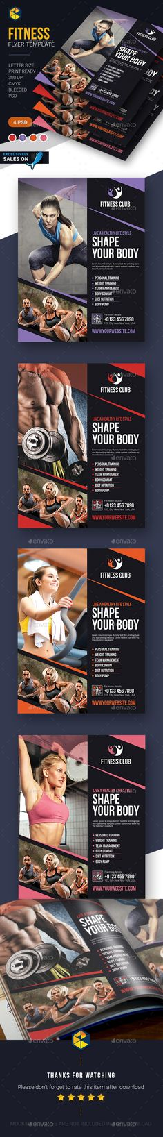 Fitness Flyer Template PSD #design Download: http://graphicriver.net/item/fitness-flyer-template/14327248?ref=ksioks