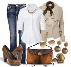"""""""White Button Down (2)"""" by junebug0617 ❤ liked on Polyvore"""
