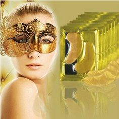 5pairs Natural crystal collagen gold powder eye masks, Anti-Aging eliminates dark circles and fine lines. Face care Skin care,  - Avenue Of Angels