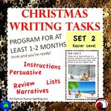 CHRISTMAS WRITING Task Cards Grade 4--6 writing letters na