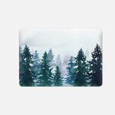Casetify Macbook Pro - Macbook Snap Case - Winter forest by Emma Reznikova Macbook Pro Tips, Newest Macbook Pro, Macbook Pro Case, Macbook Skin, Macbook Pro Accessories, Tech Accessories, Iphone 5s Screen, Mac Notebook, Iphone Price