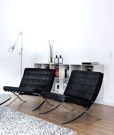Black & White-Barcelona Chairs