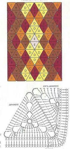 Triangle granny blanket: