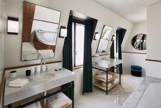 Le Roch Hotel & Spa - Paris Spacious double sink bathroom with natural light. Modern design elements and a marble bath tub Hotel Saint Roch, Le Roch Hotel, Spa Design, Modern Design, Design Elements, Spa Paris, Spa Hotel, Decoration Inspiration, Paris Design