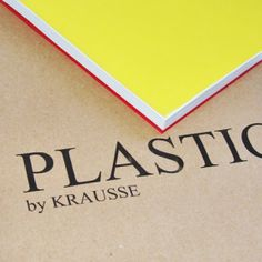 "Hi everybody!! Here our new notebook ""Plastic"". Enjoy it!! $14.96"