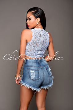 Chic Couture Online - Asalia Baby Blue Lace Sleeveless Crop Top.(http://www.chiccoutureonline.com/asalia-baby-blue-lace-sleeveless-crop-top/)
