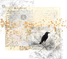 An art collage from March 2013 Crows, Collages, Vintage World Maps, Polyvore, Stuff To Buy, Painting, Design, Women, Art