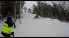 Snowmobile Hill Climb - Crashing Into Trees